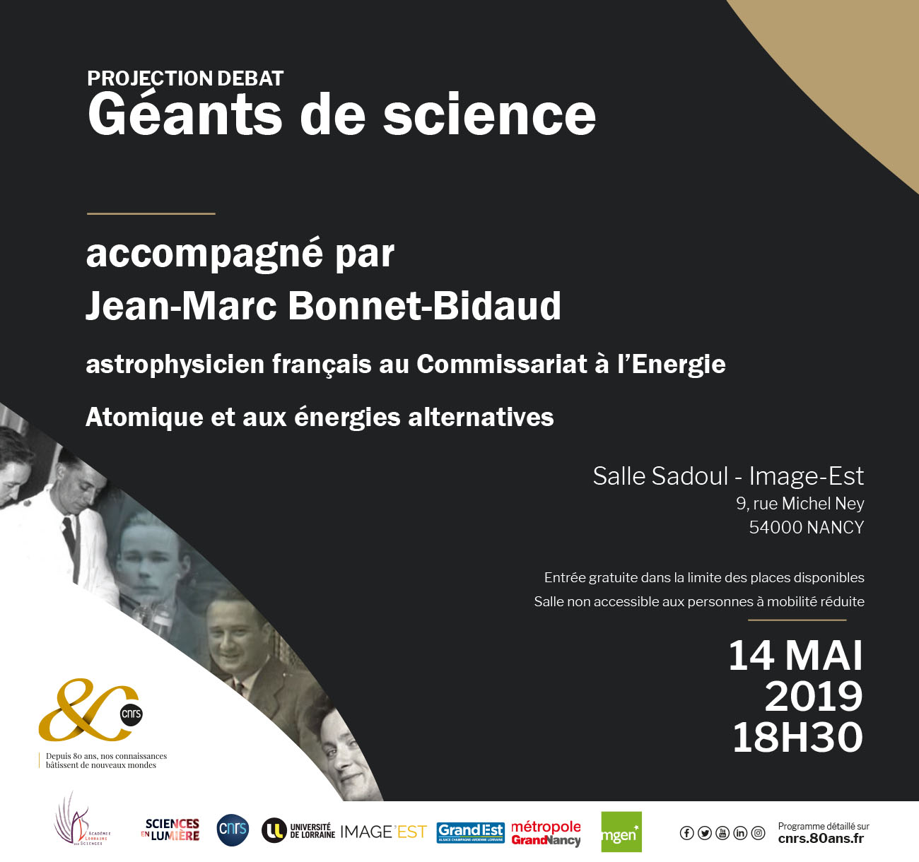 Géants de Science – Projection débat