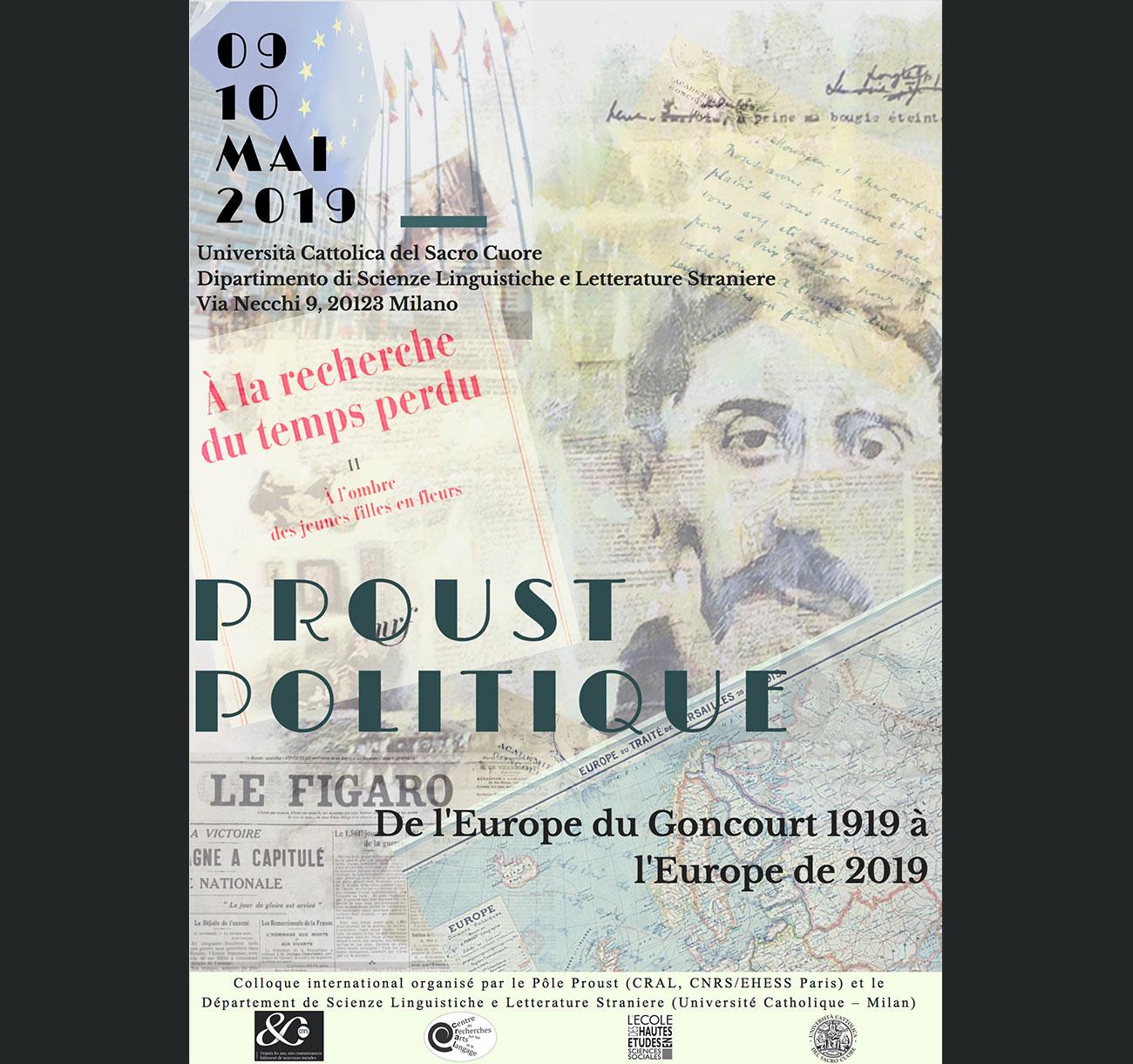 Proust politique. De l'Europe du Goncourt 1919 à l'Europe de 2019