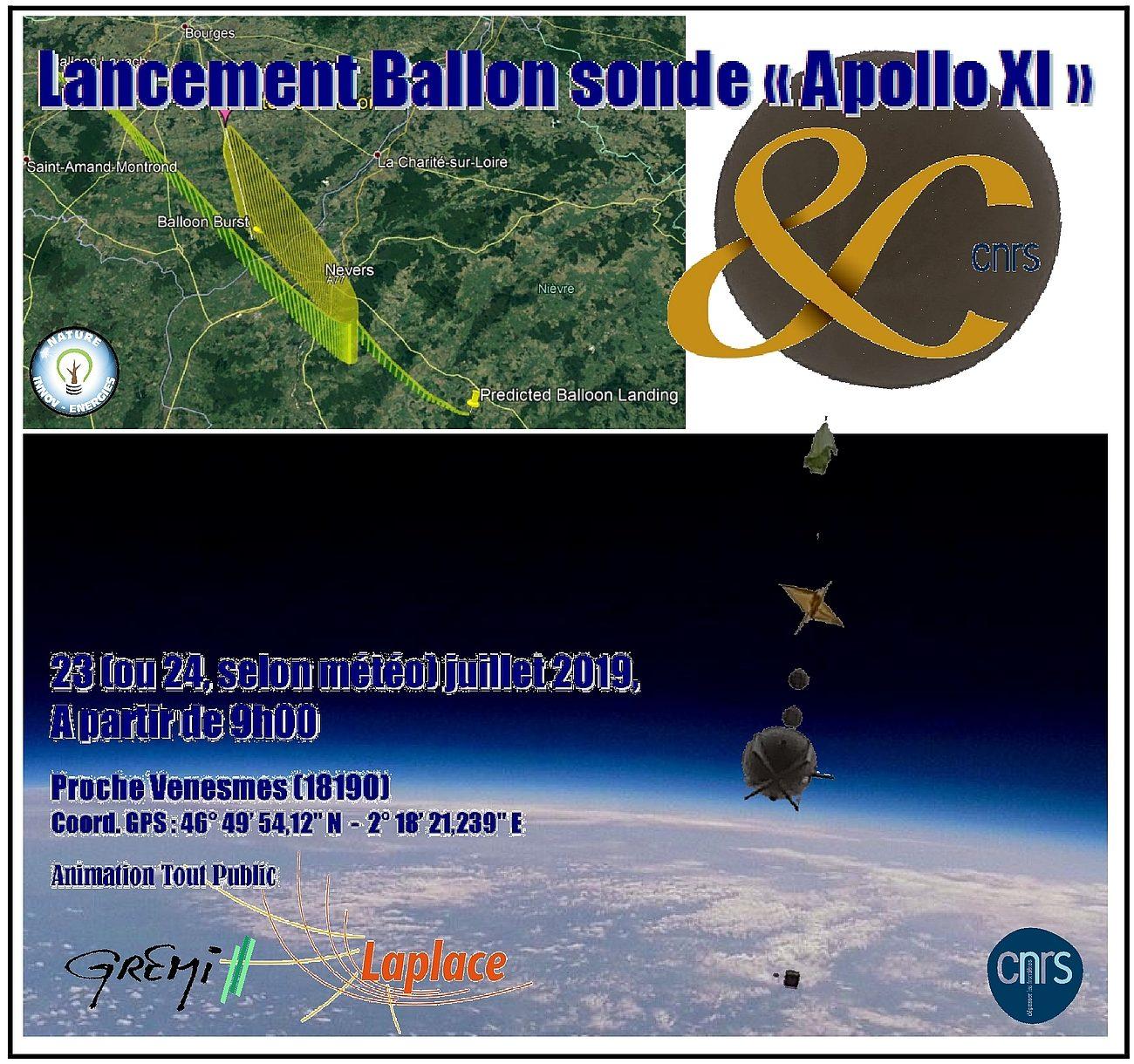 Lancement ballon sonde – Apollo XI