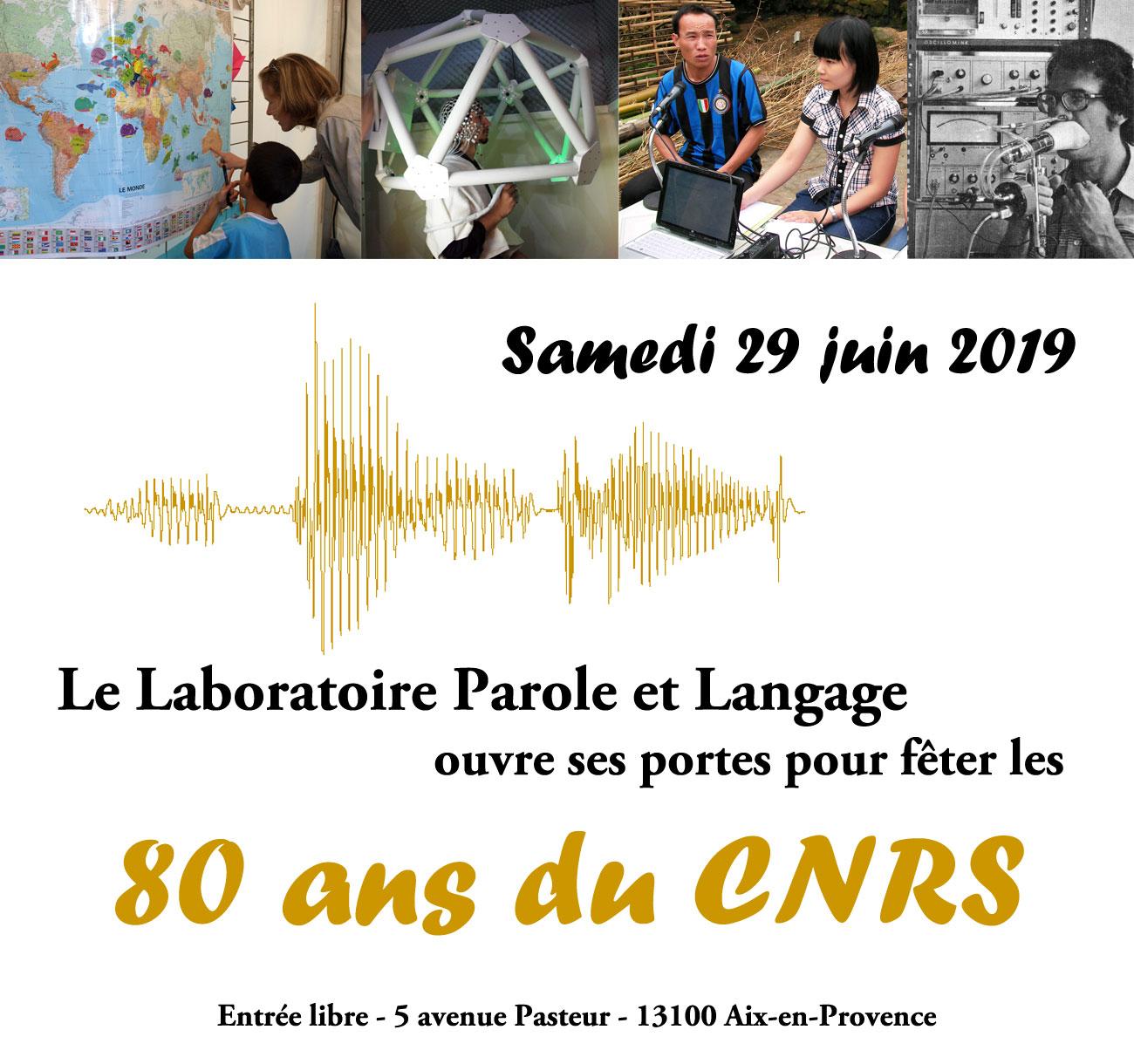 Le Laboratoire Parole et Langage ouvre ses portes pour fêter les 80 ans du CNRS