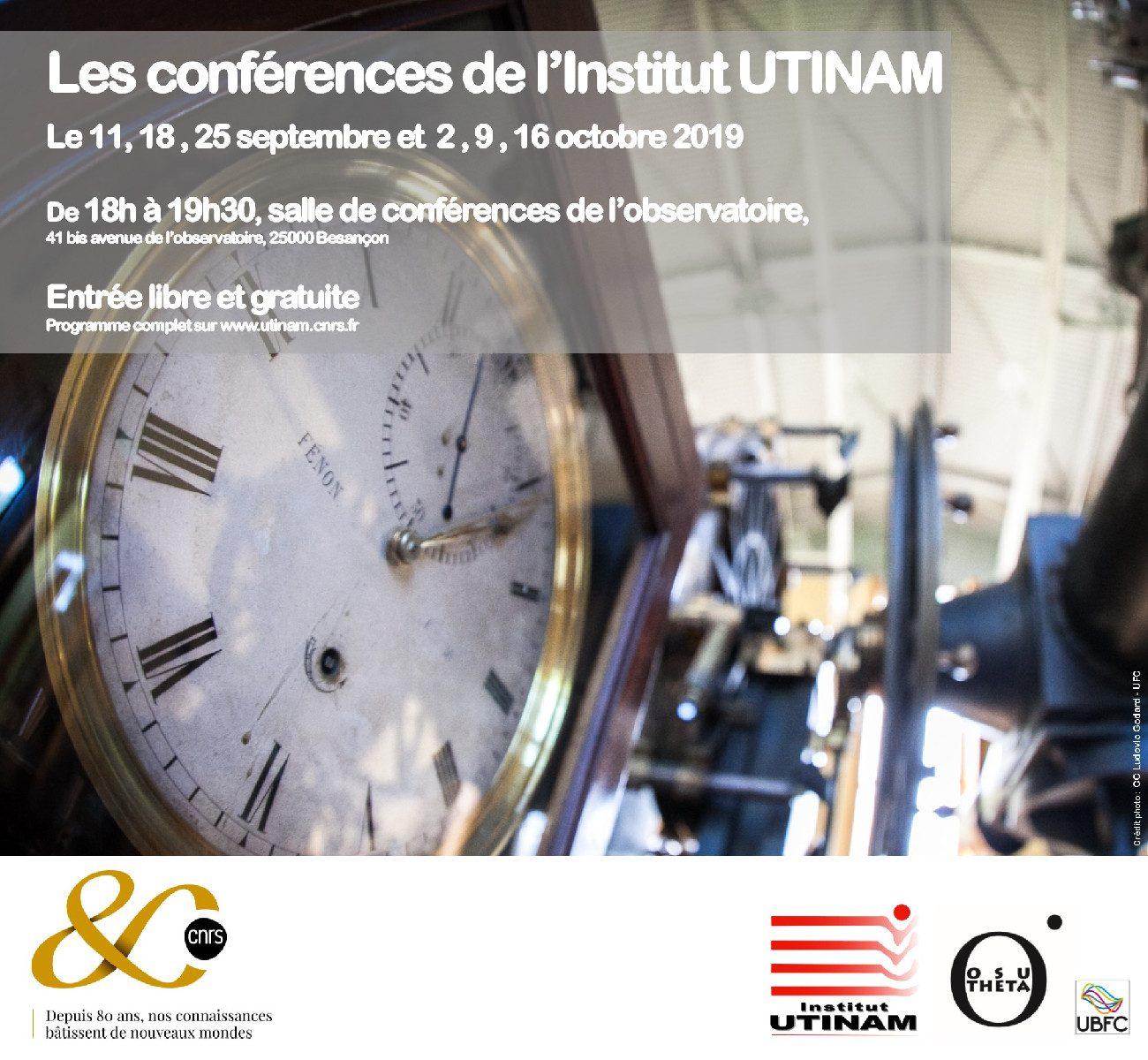 Les conférences de l'institut UTINAM