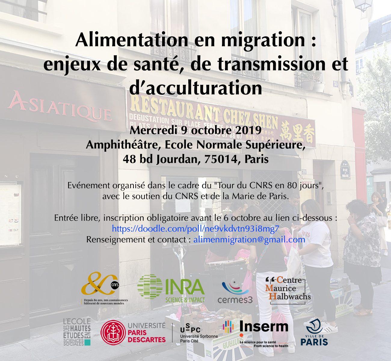 Alimentation en migration. Enjeux de santé, de transmission et d'acculturation