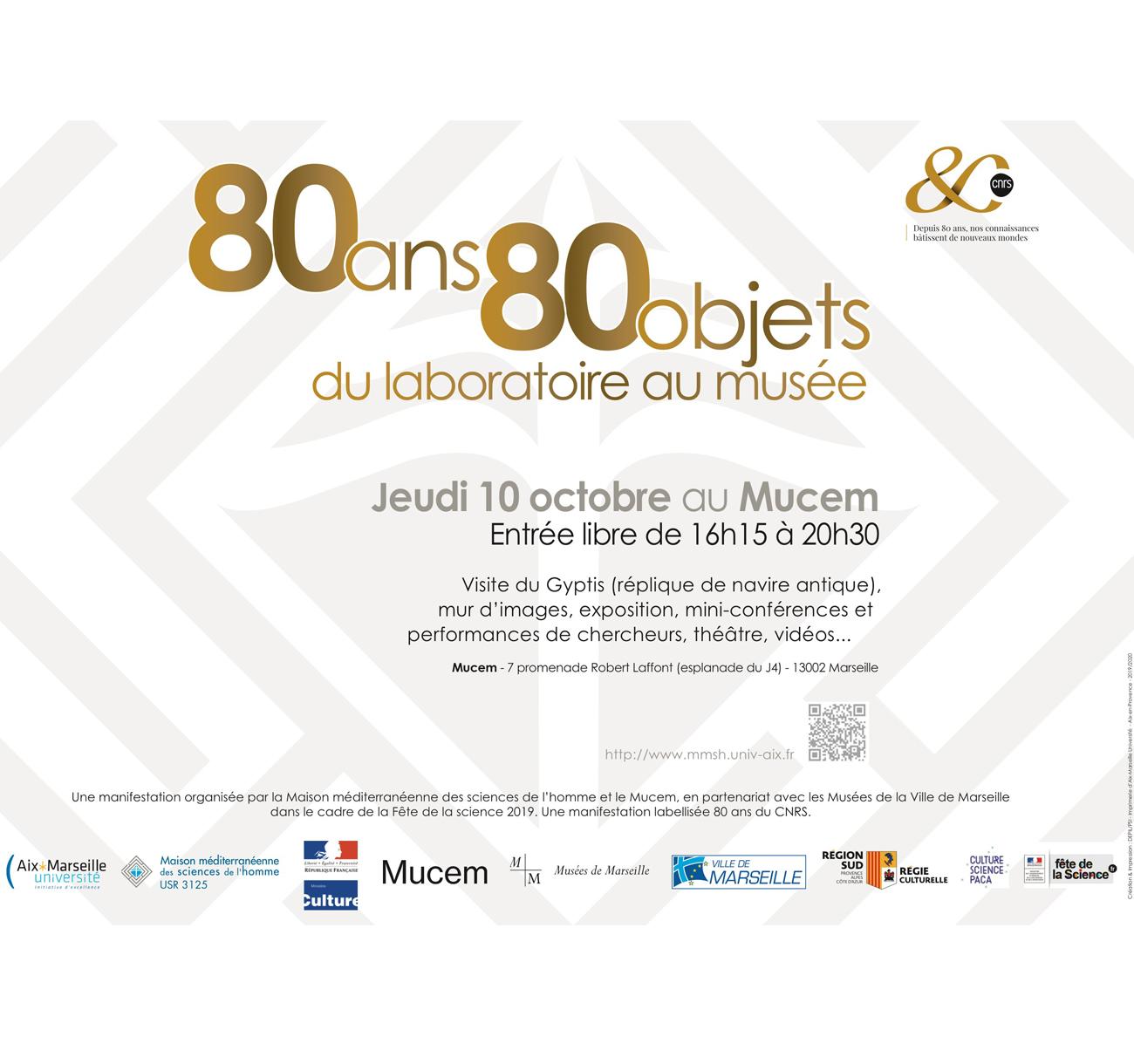80 ans 80 objets de recherche. Du laboratoire au musée